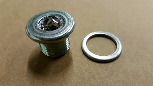 Low Profile Drain Plug and Gasket