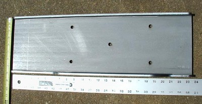 Narrow Winch Mounting Plate